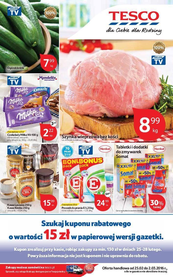 Gazetka promocyjna Tesco do 02/03/2016 str.0