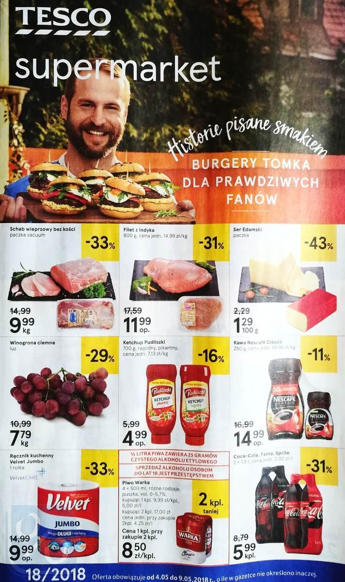 Gazetka promocyjna Tesco do 09/05/2018 str.0