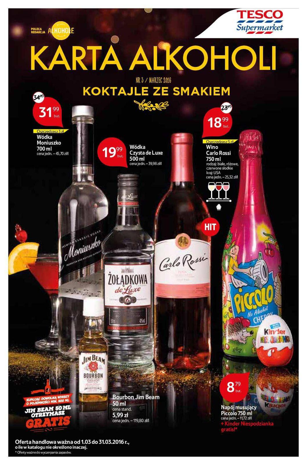 Gazetka promocyjna Tesco do 31/03/2016 str.0