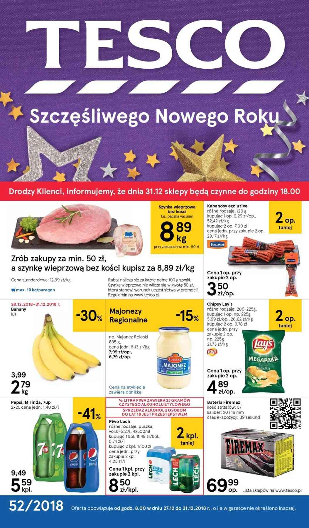 Gazetka promocyjna Tesco do 31/12/2018 str.0