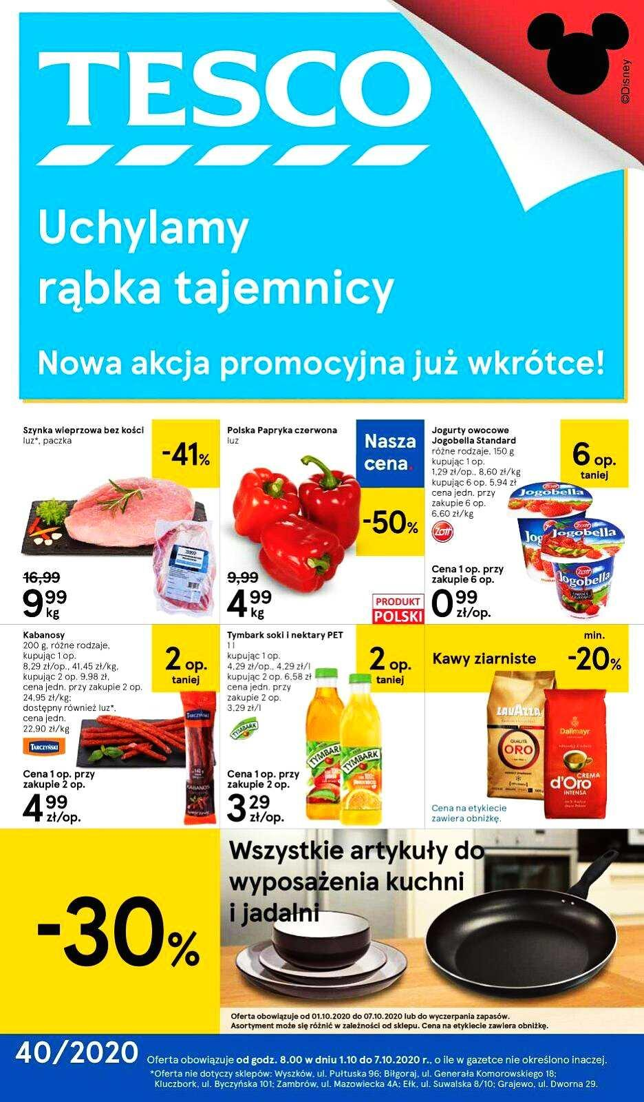 Gazetka promocyjna Tesco do 07/10/2020 str.1