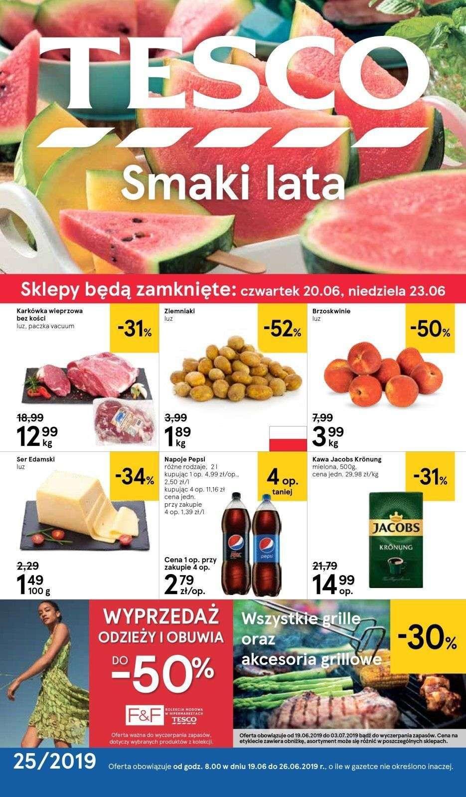 Gazetka promocyjna Tesco do 26/06/2019 str.0