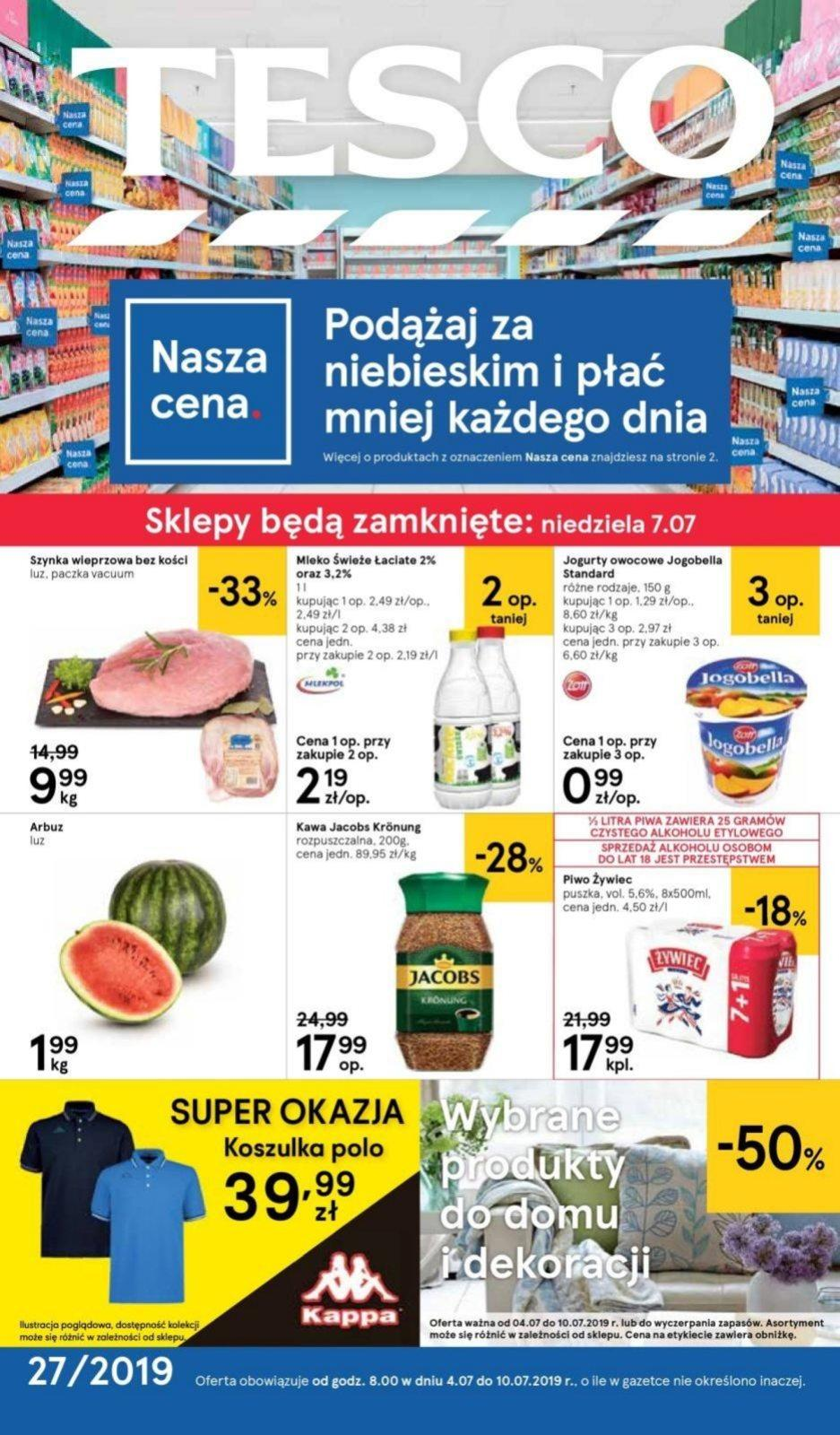 Gazetka promocyjna Tesco do 10/07/2019 str.0