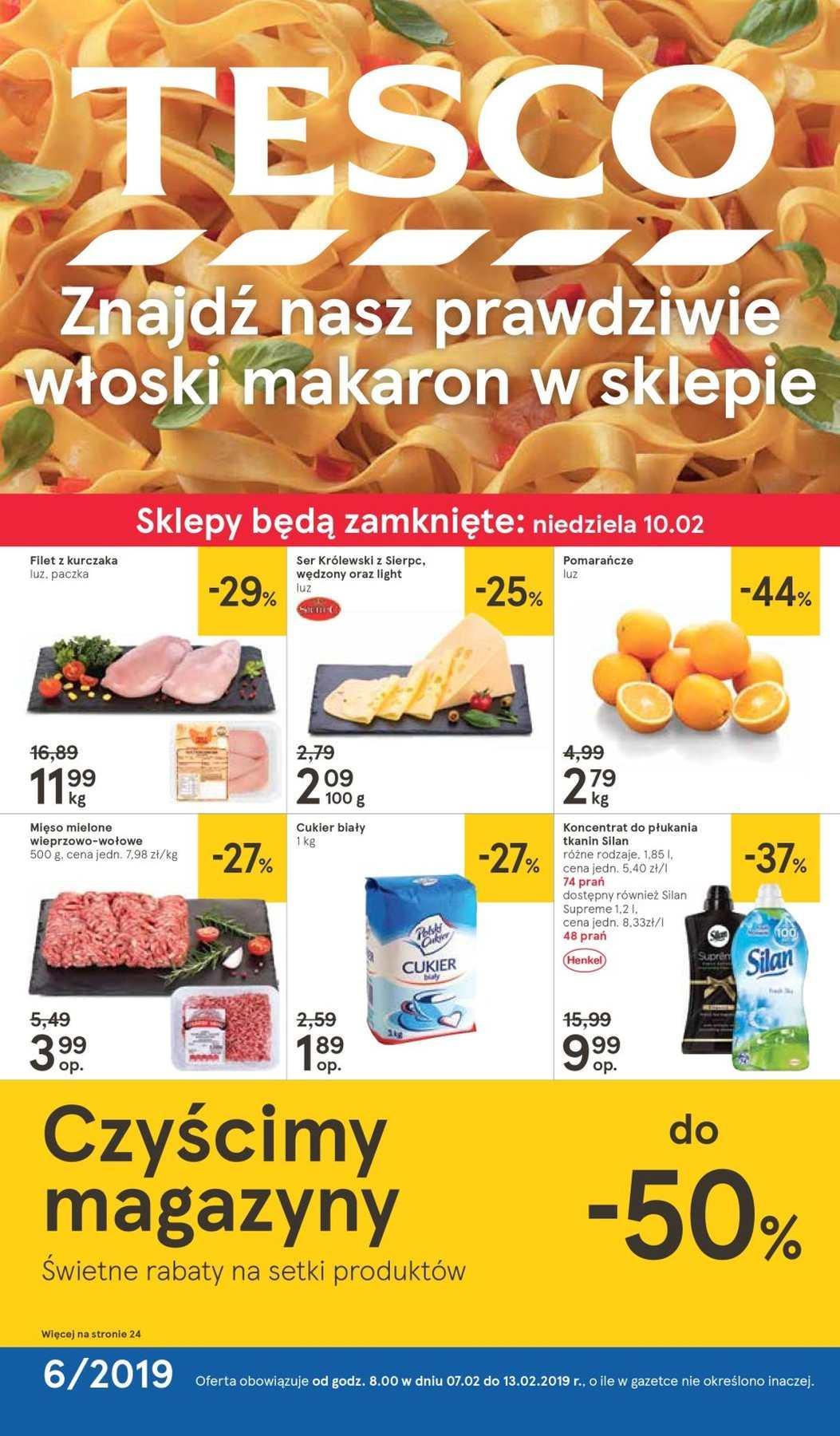 Gazetka promocyjna Tesco do 13/02/2019 str.1