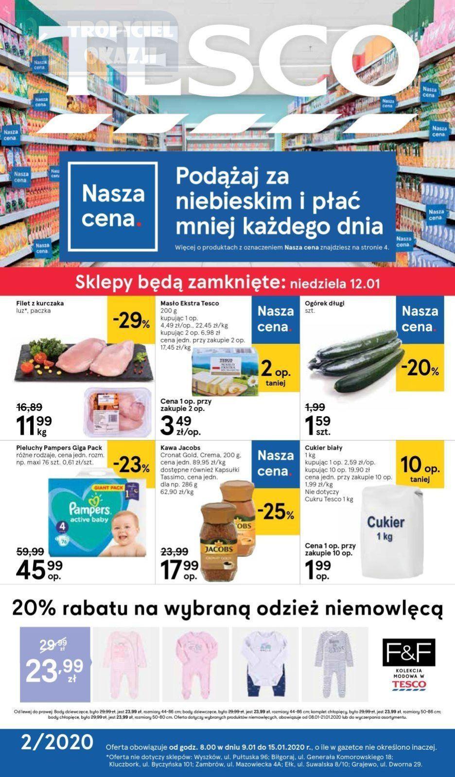 Gazetka promocyjna Tesco do 15/01/2020 str.1