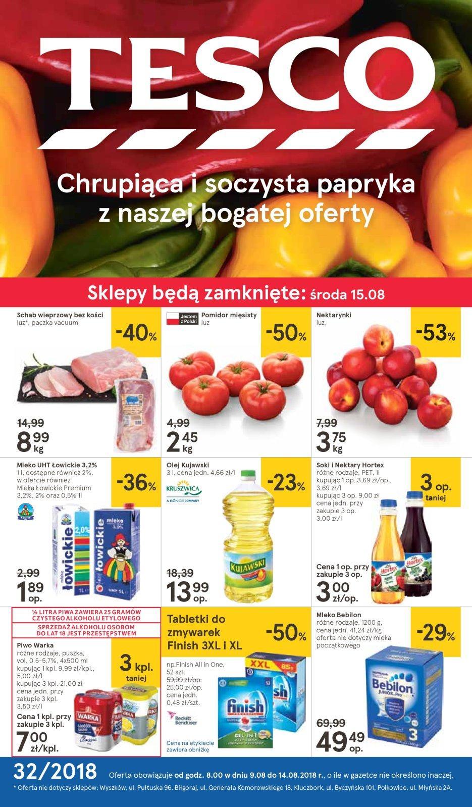 Gazetka promocyjna Tesco do 15/08/2018 str.1