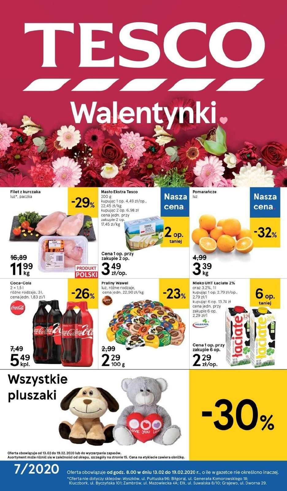 Gazetka promocyjna Tesco do 19/02/2020 str.1