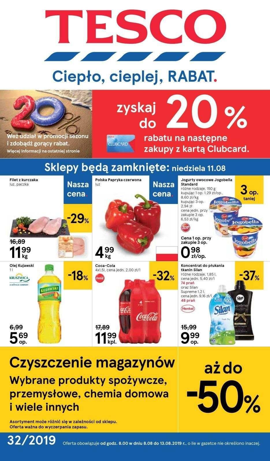 Gazetka promocyjna Tesco do 14/08/2019 str.1