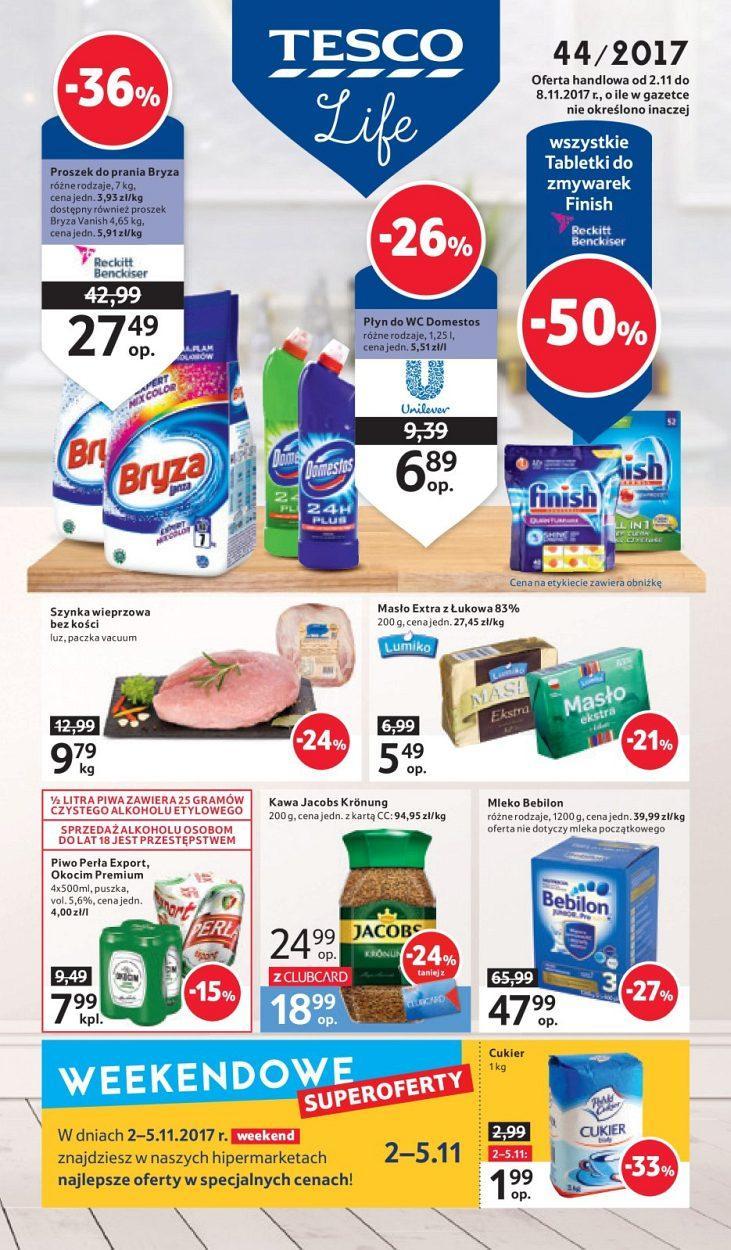 Gazetka promocyjna Tesco do 08/11/2017 str.0