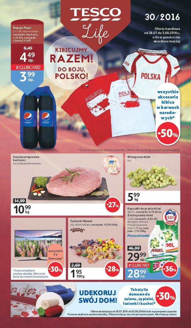 Gazetka promocyjna Tesco do 03/08/2016 str.0