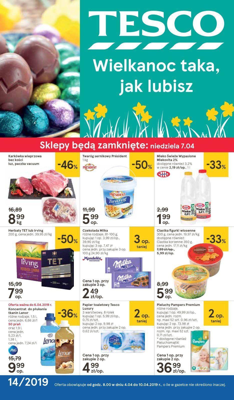 Gazetka promocyjna Tesco do 10/04/2019 str.0