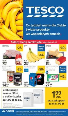 Tesco gazetka - od 12/09/2019 do 18/09/2019