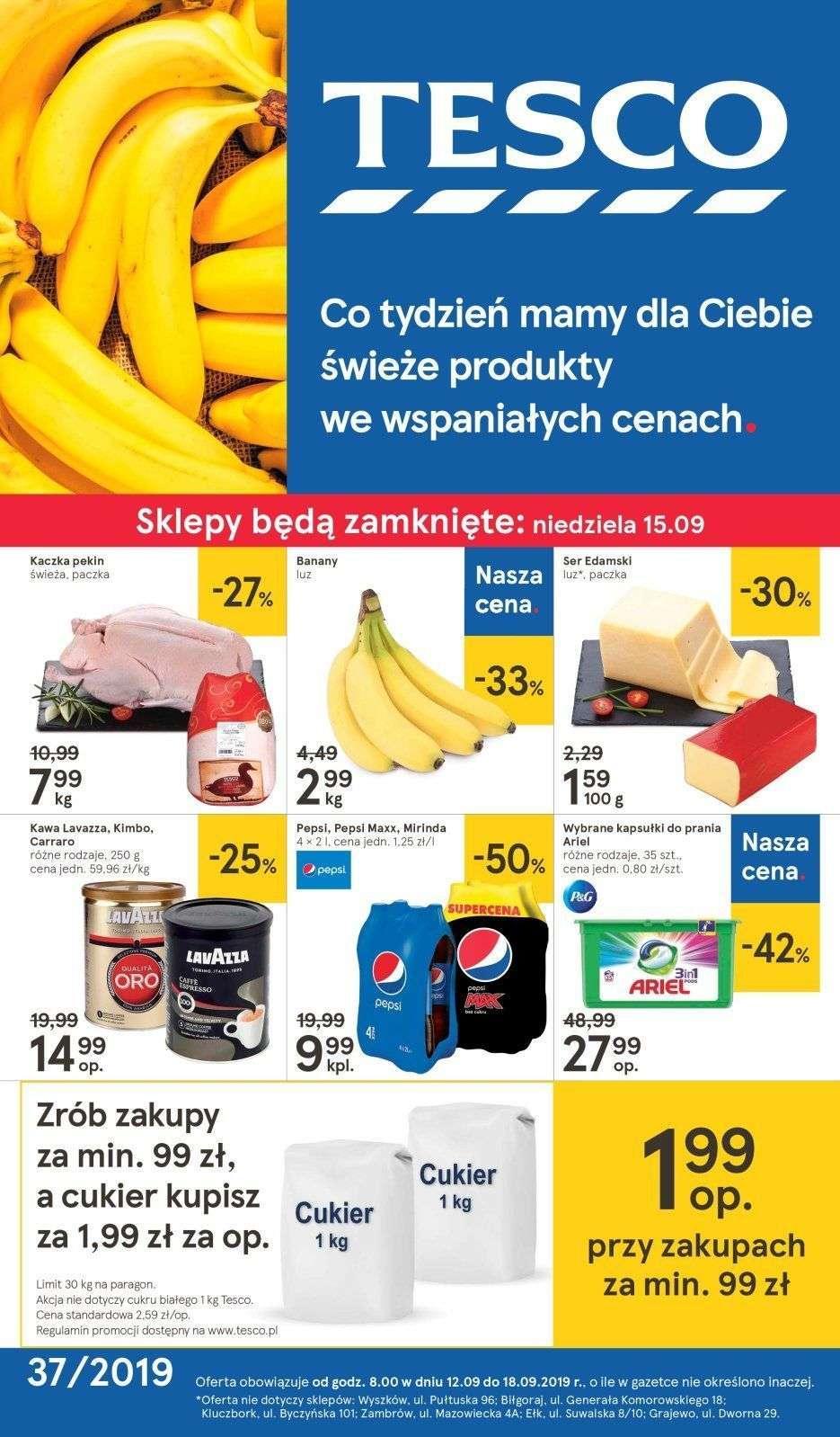 Gazetka promocyjna Tesco do 18/09/2019 str.1