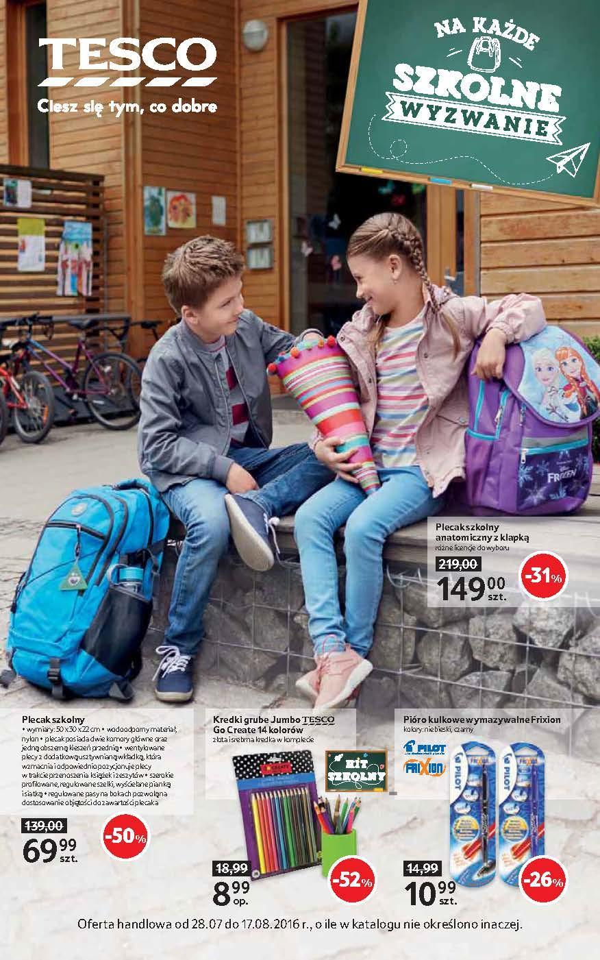 Gazetka promocyjna Tesco do 17/08/2016 str.0