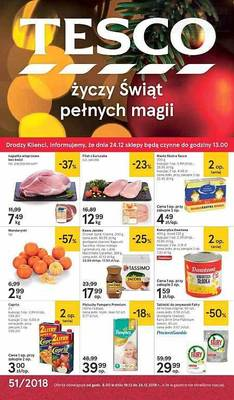 Tesco gazetka - od 19/12/2018 do 24/12/2018