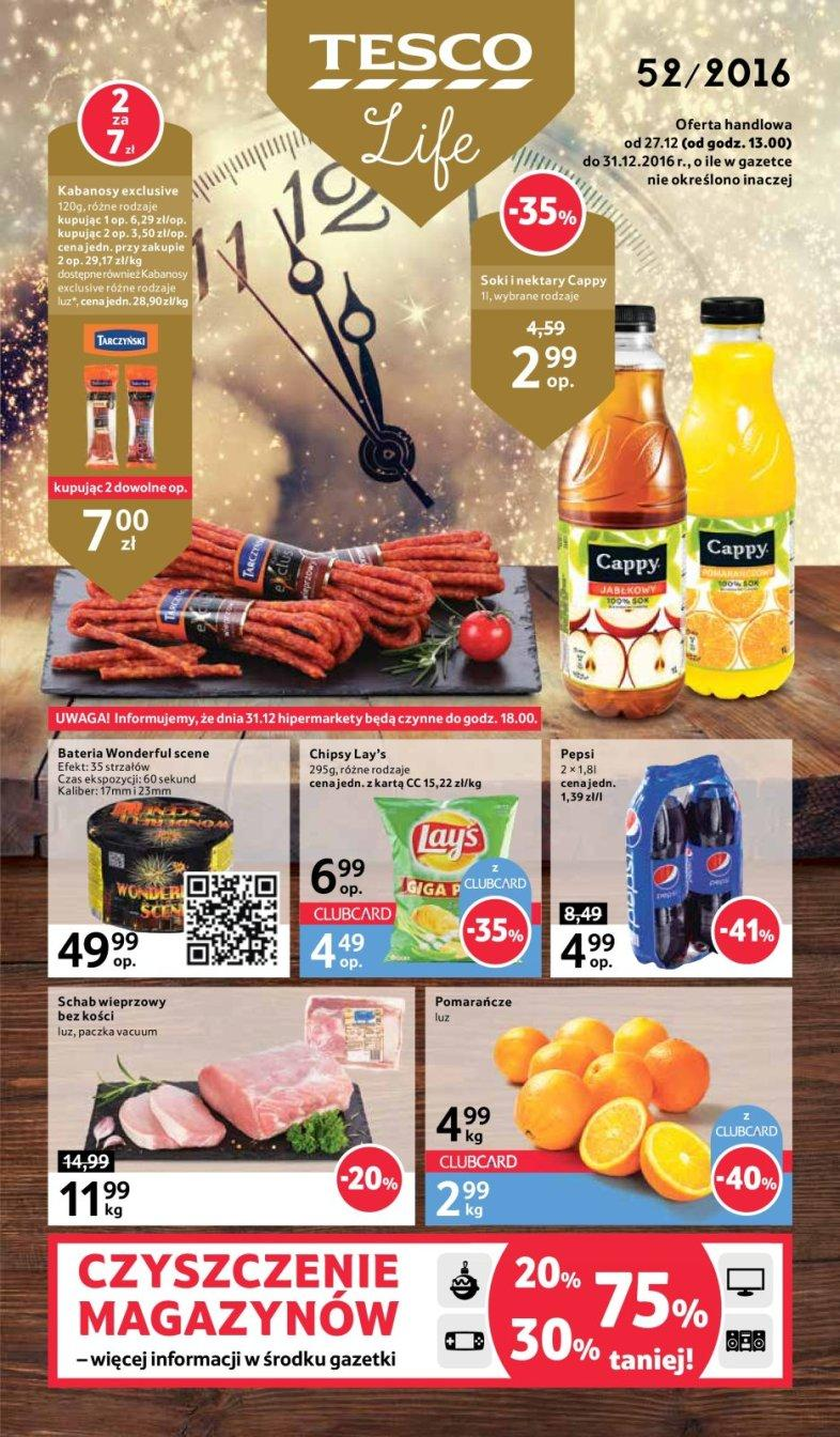 Gazetka promocyjna Tesco do 31/12/2016 str.0