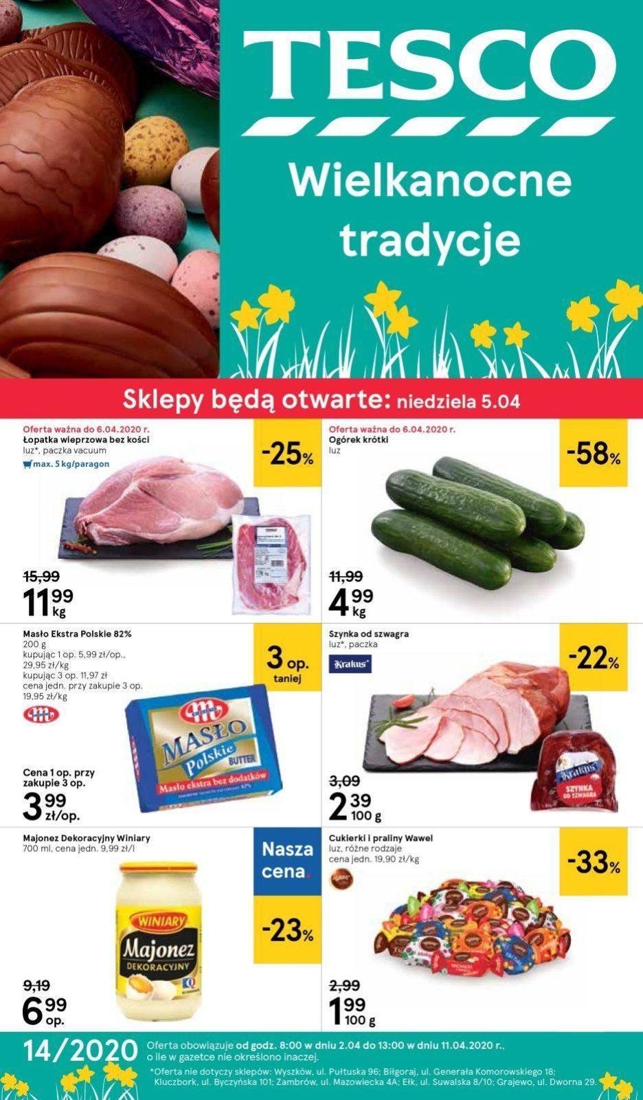 Gazetka promocyjna Tesco do 08/04/2020 str.1
