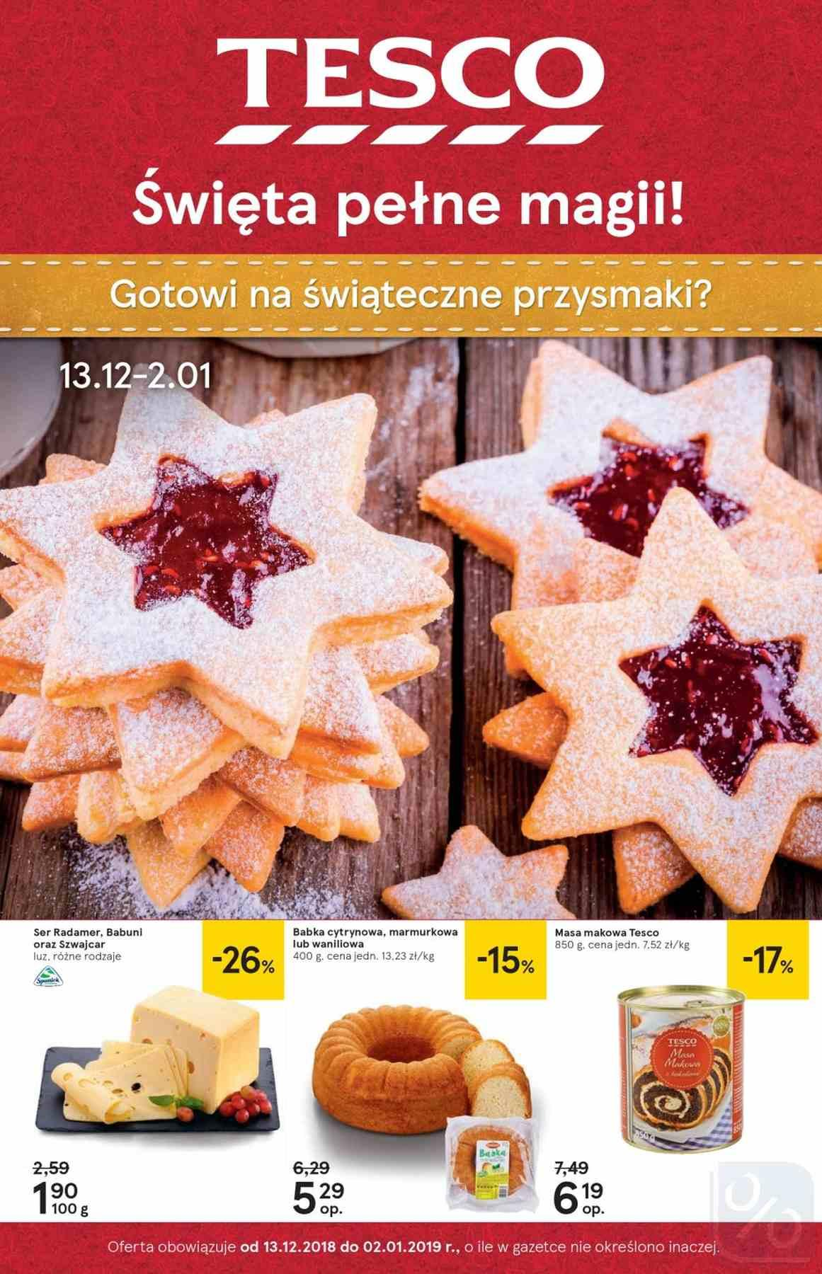 Gazetka promocyjna Tesco do 02/01/2019 str.0