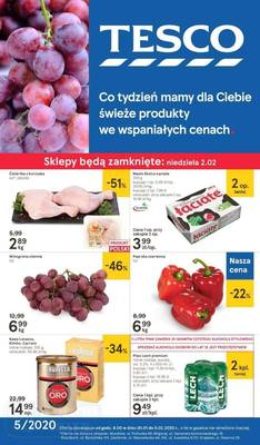 Tesco gazetka - od 30/01/2020 do 05/02/2020
