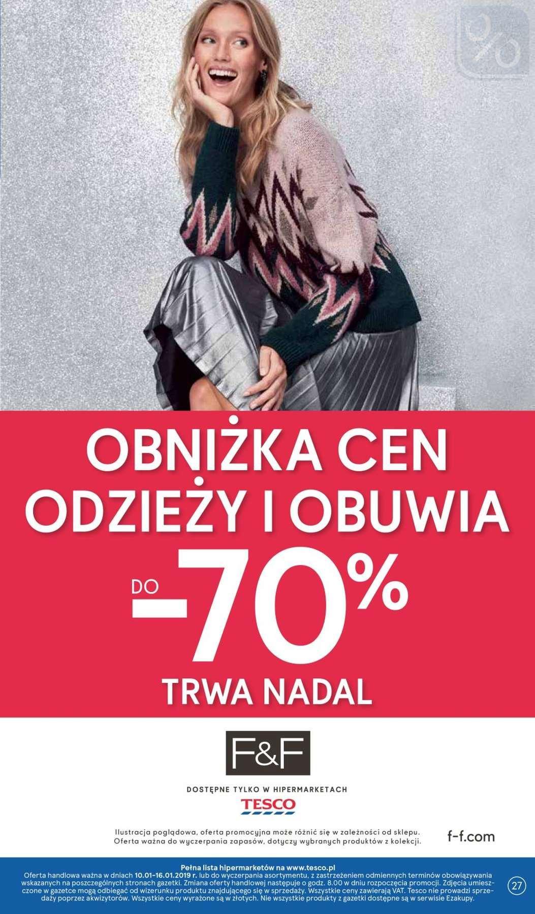 Gazetka promocyjna Tesco do 16/01/2019 str.27