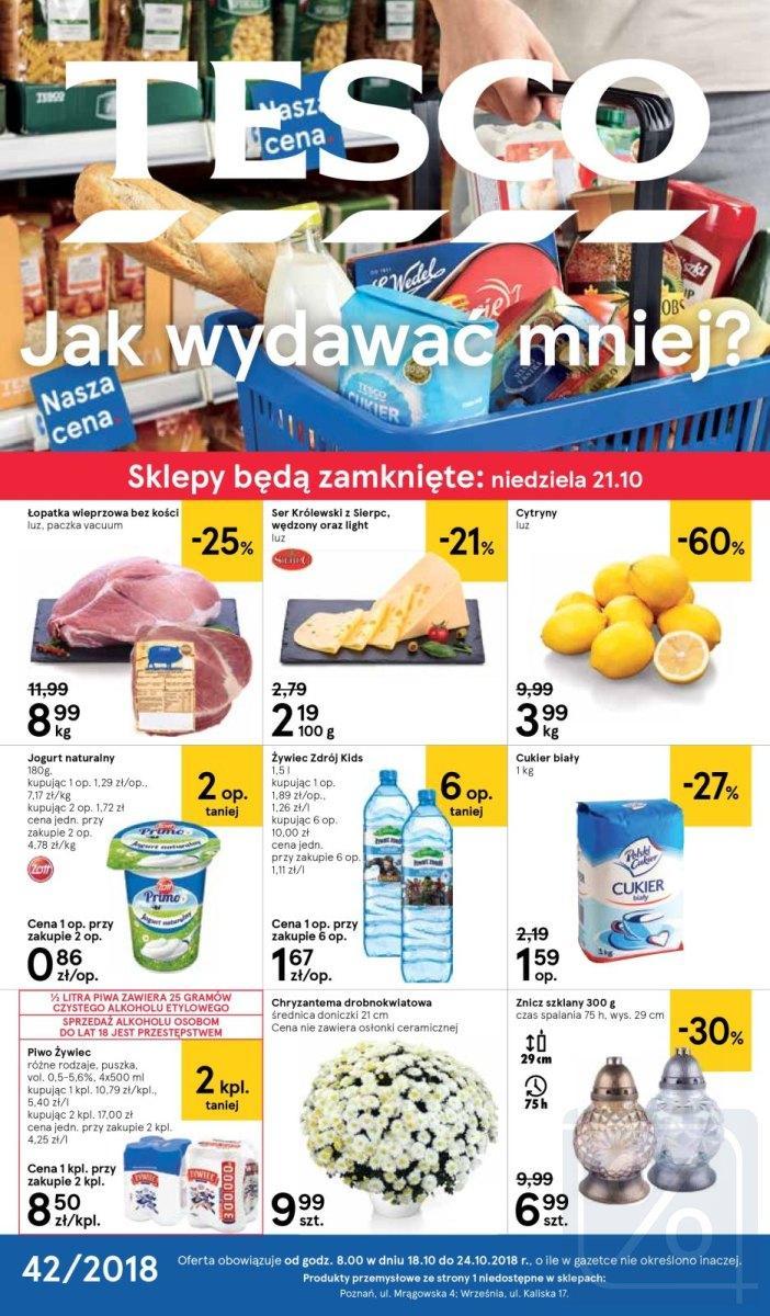 Gazetka promocyjna Tesco do 24/10/2018 str.1