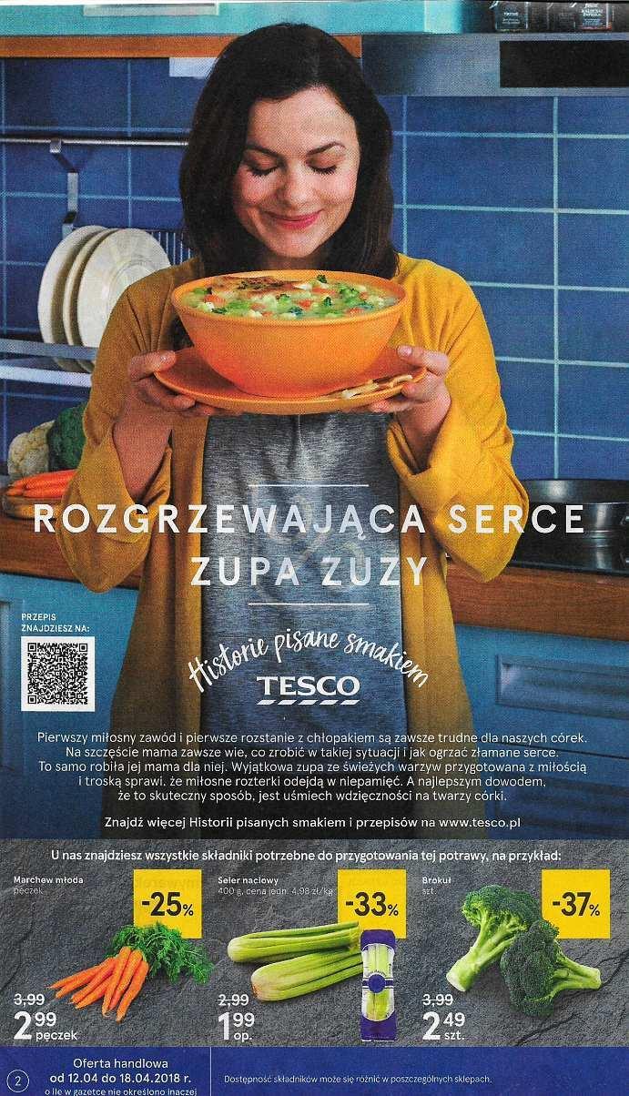 Gazetka promocyjna Tesco do 18/04/2018 str.1