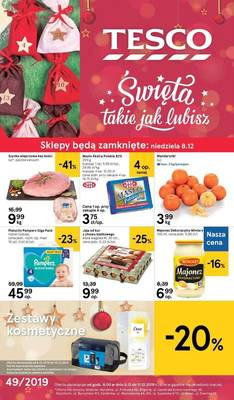 Tesco gazetka - od 05/12/2019 do 11/12/2019