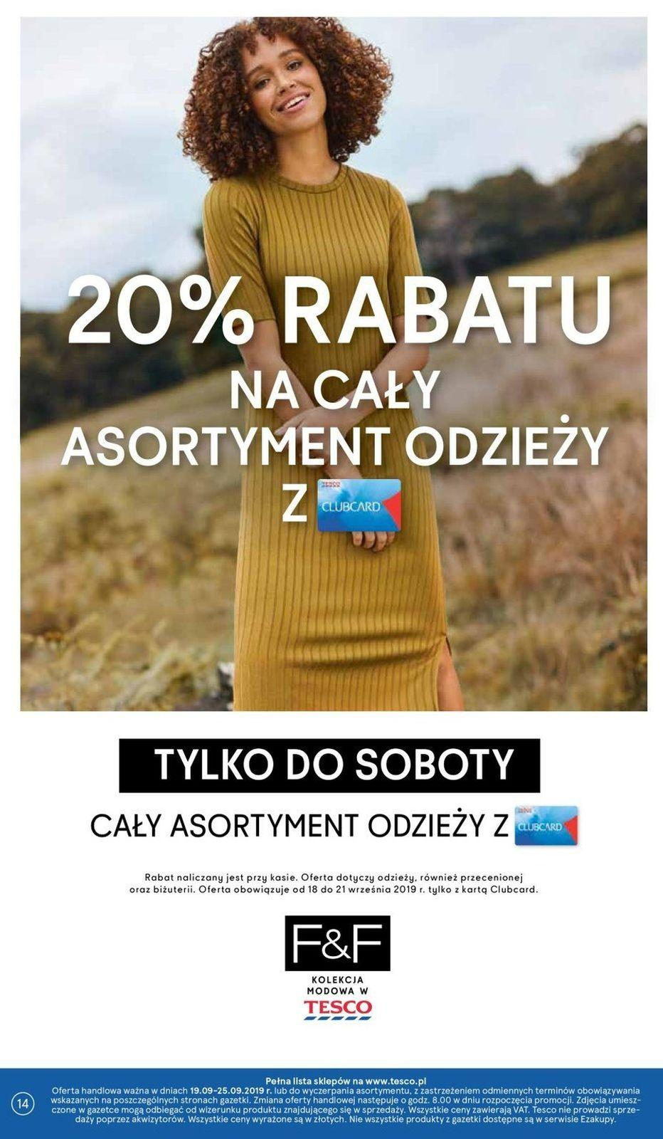 Gazetka promocyjna Tesco do 25/09/2019 str.14