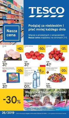 Tesco gazetka - od 27/06/2019 do 03/07/2019