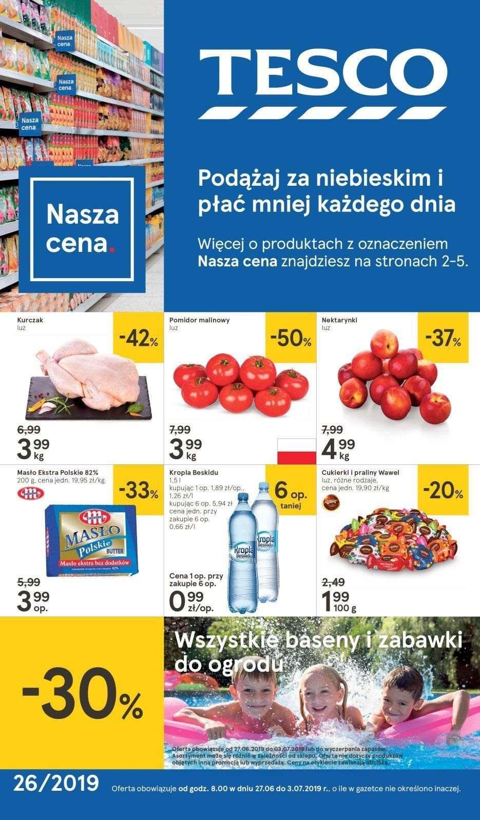 Gazetka promocyjna Tesco do 03/07/2019 str.0
