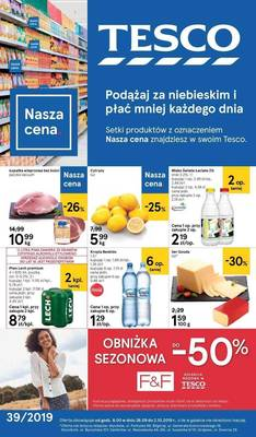Tesco gazetka - od 26/09/2019 do 02/10/2019