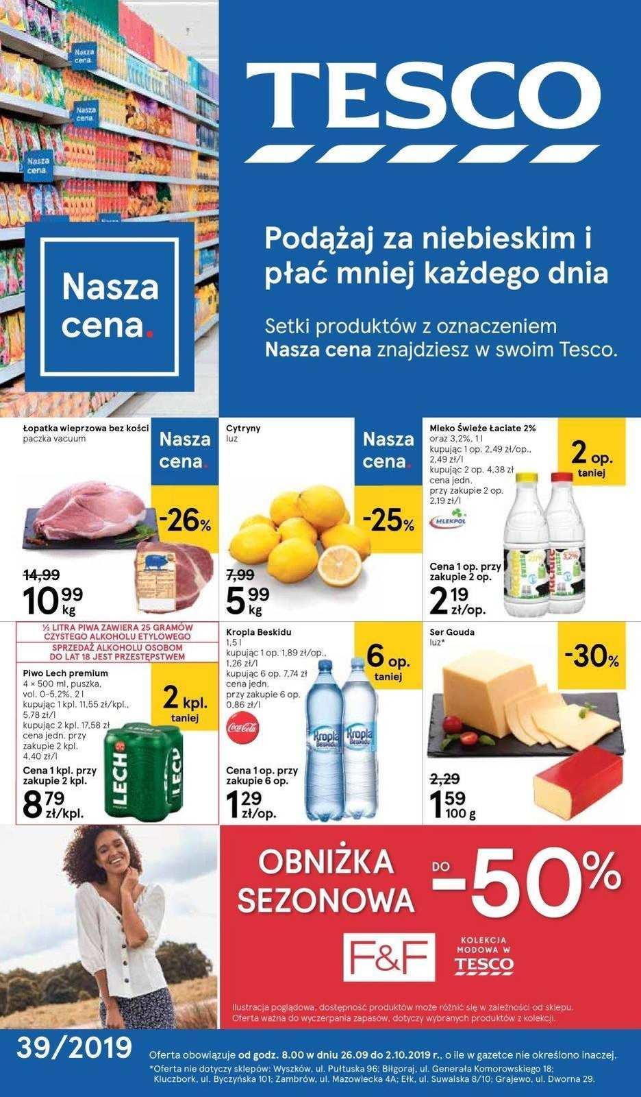 Gazetka promocyjna Tesco do 02/10/2019 str.1