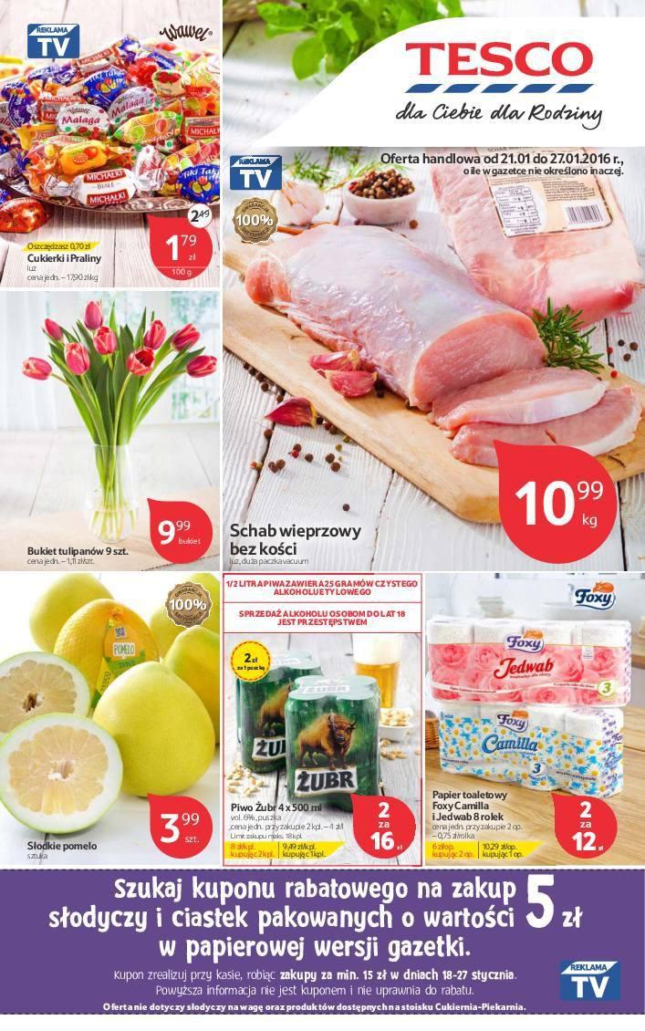 Gazetka promocyjna Tesco do 27/01/2016 str.0