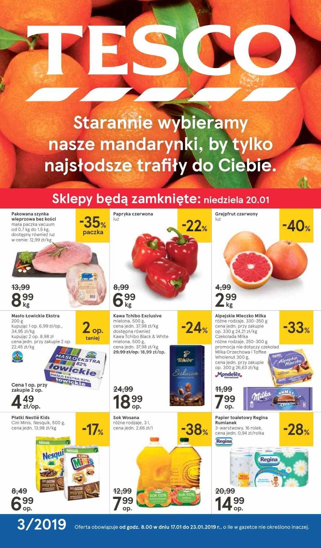 Gazetka promocyjna Tesco do 23/01/2019 str.1