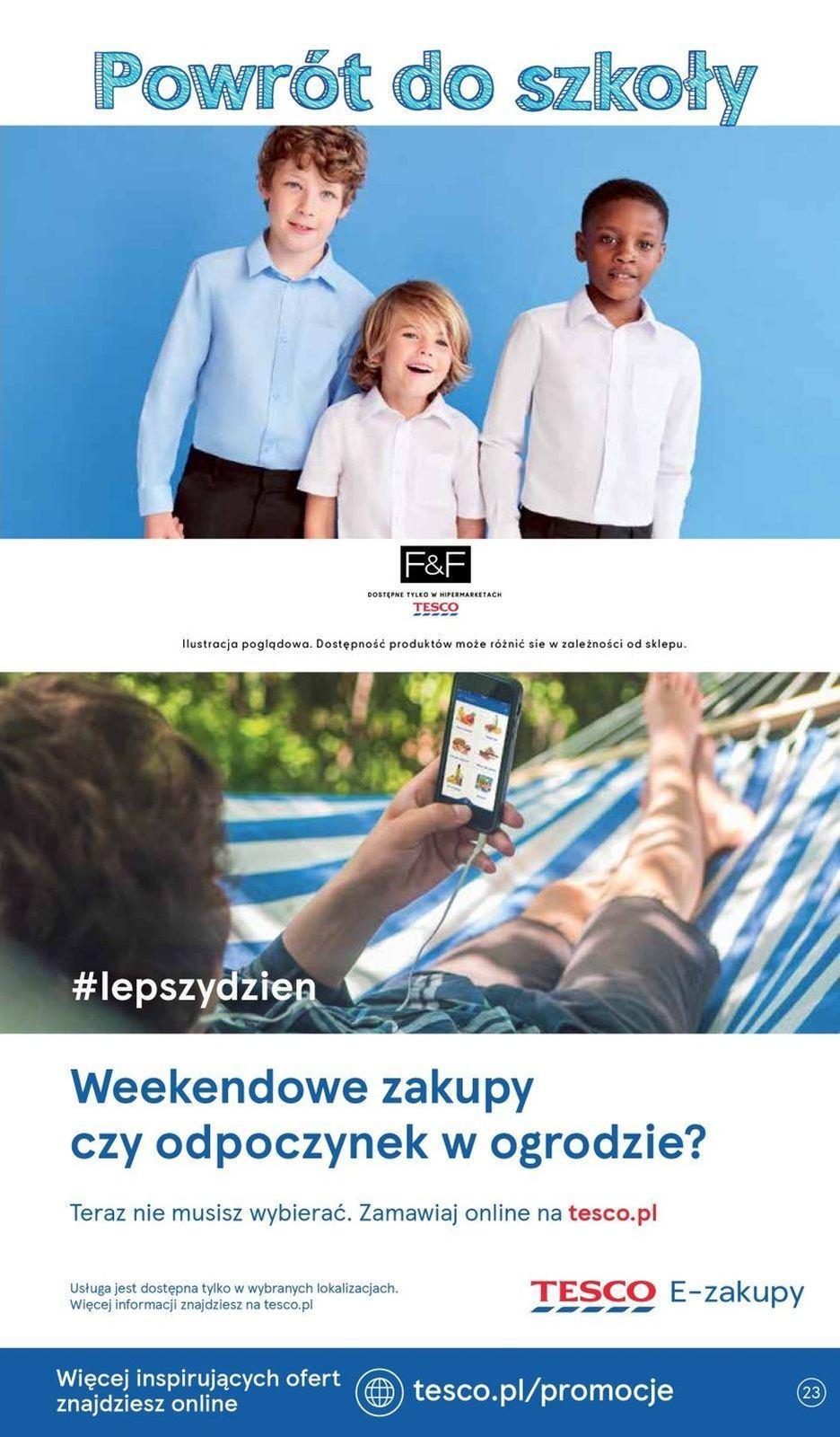 Gazetka promocyjna Tesco do 21/08/2019 str.23