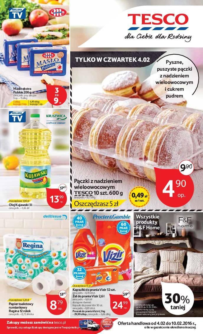Gazetka promocyjna Tesco do 10/02/2016 str.0