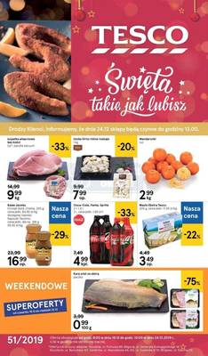 Tesco gazetka - od 19/12/2019 do 24/12/2019
