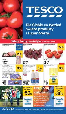 Tesco gazetka - od 29/08/2019 do 04/09/2019