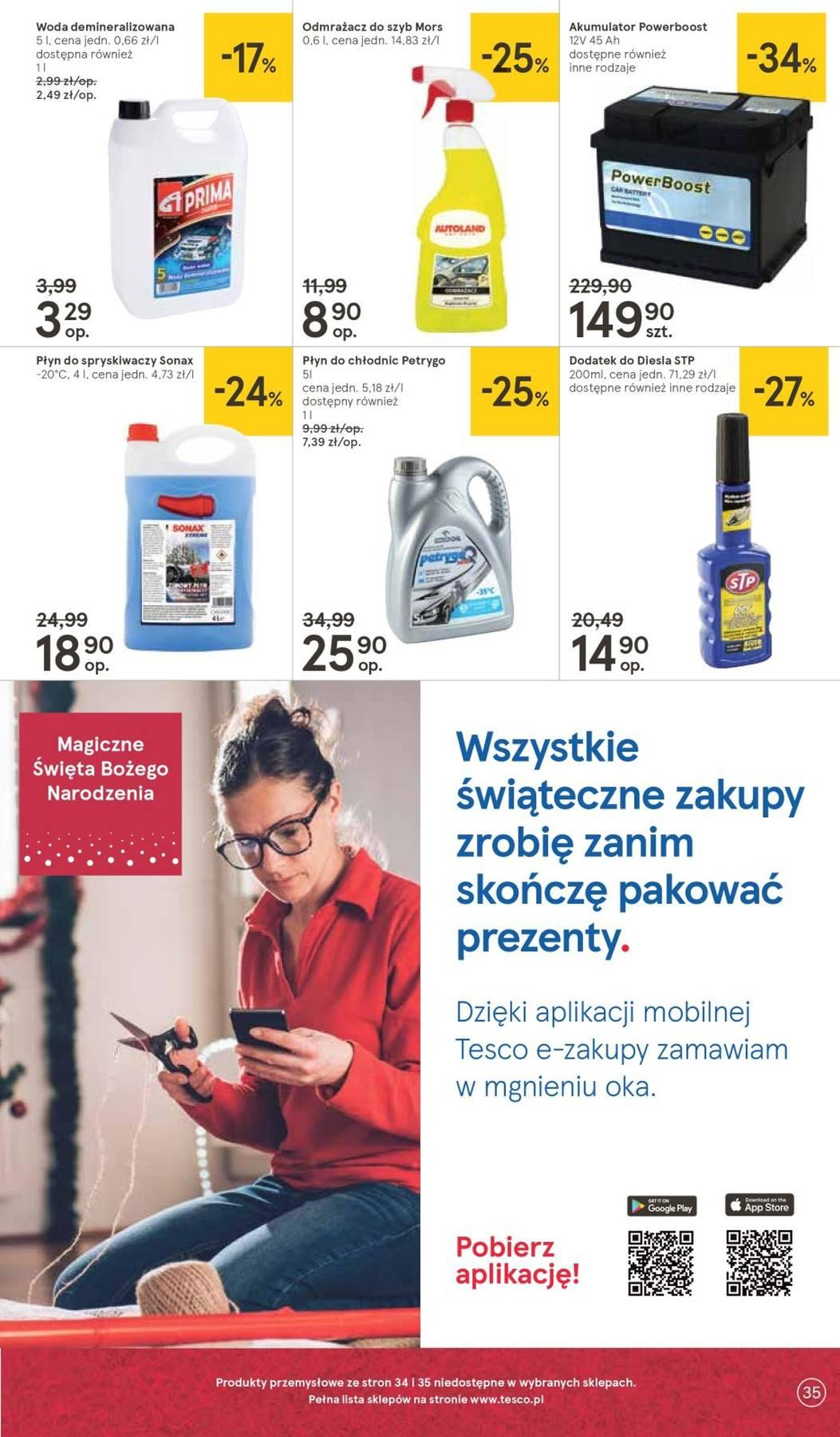 Gazetka promocyjna Tesco do 14/11/2018 str.35