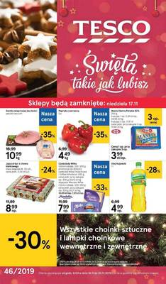 Tesco gazetka - od 14/11/2019 do 20/11/2019