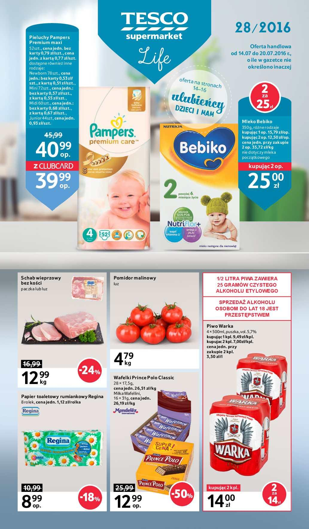 Gazetka promocyjna Tesco do 20/07/2016 str.0