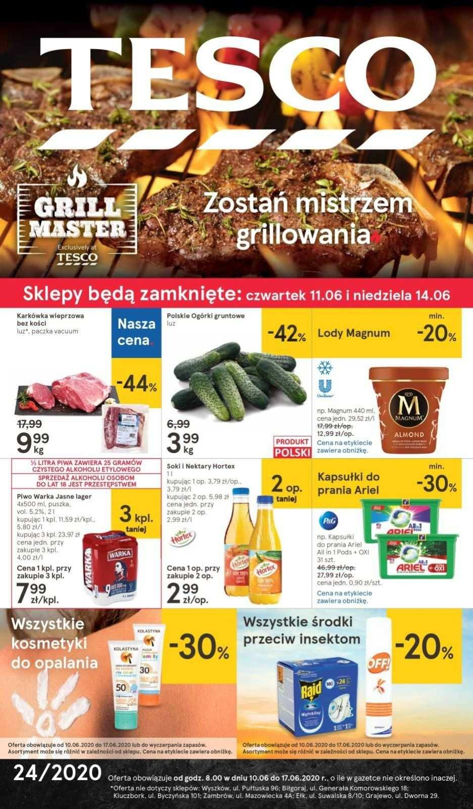 Gazetka promocyjna Tesco do 17/06/2020 str.1