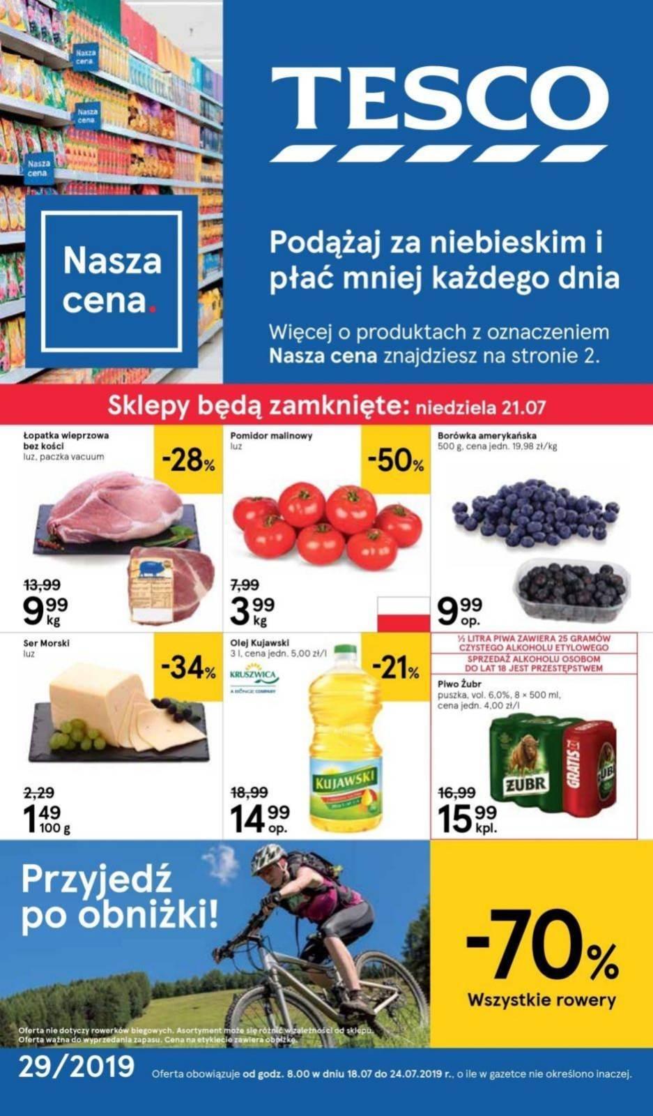 Gazetka promocyjna Tesco do 24/07/2019 str.1