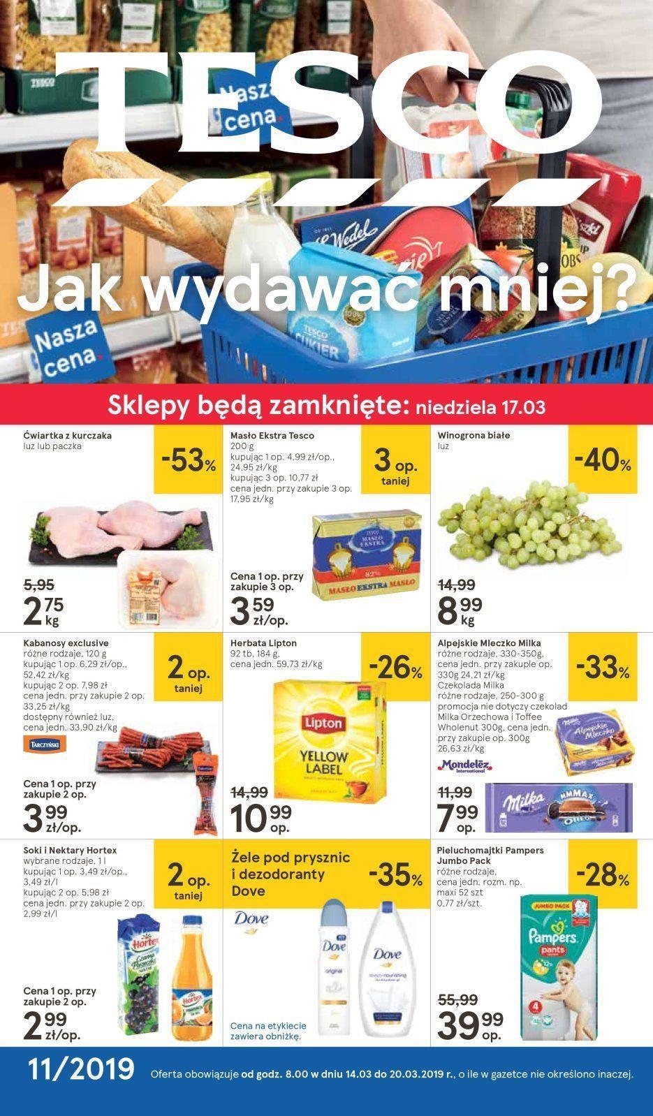 Gazetka promocyjna Tesco do 20/03/2019 str.1