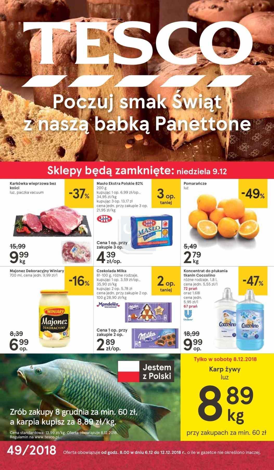 Gazetka promocyjna Tesco do 12/12/2018 str.0