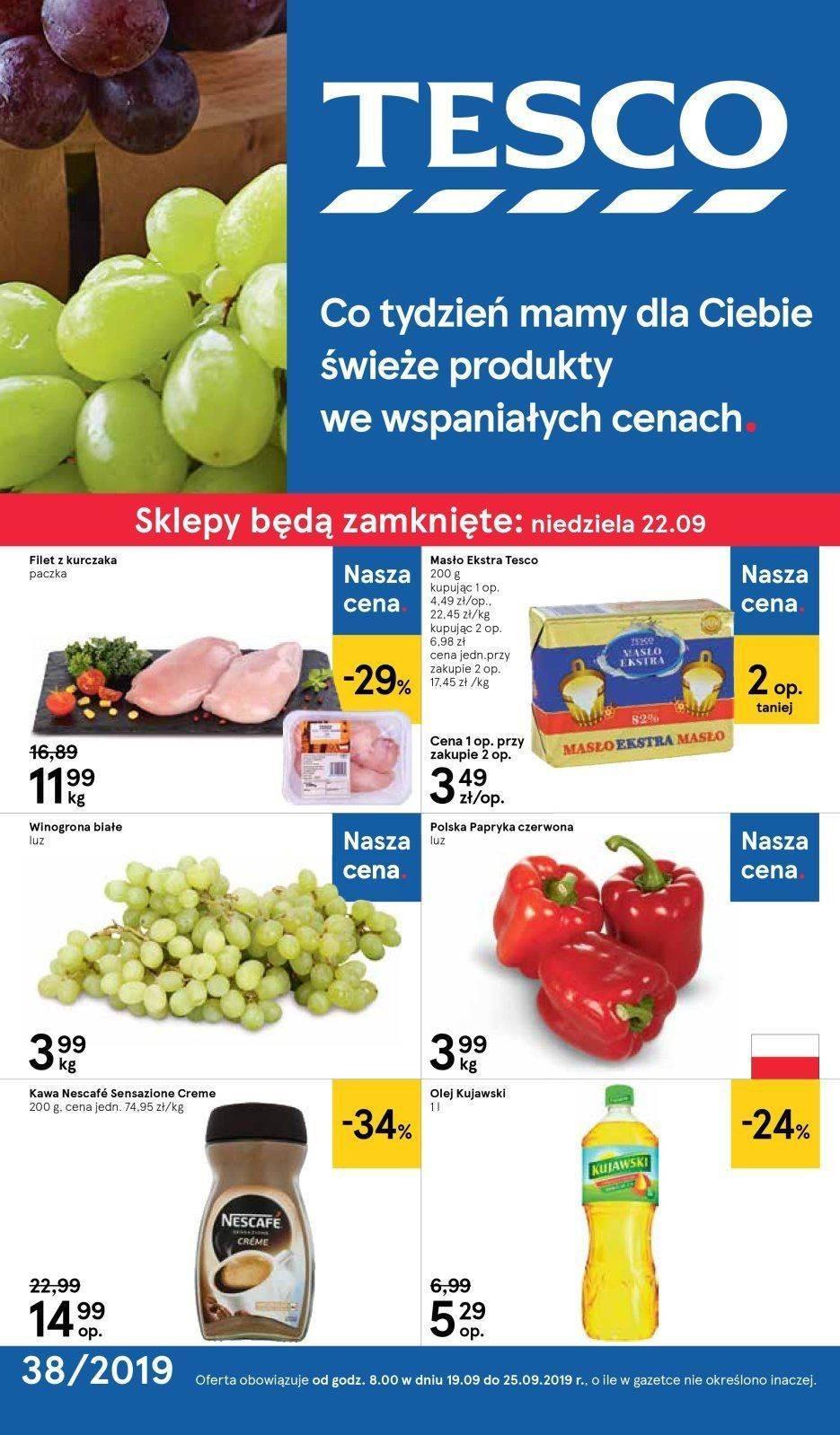Gazetka promocyjna Tesco do 25/09/2019 str.0