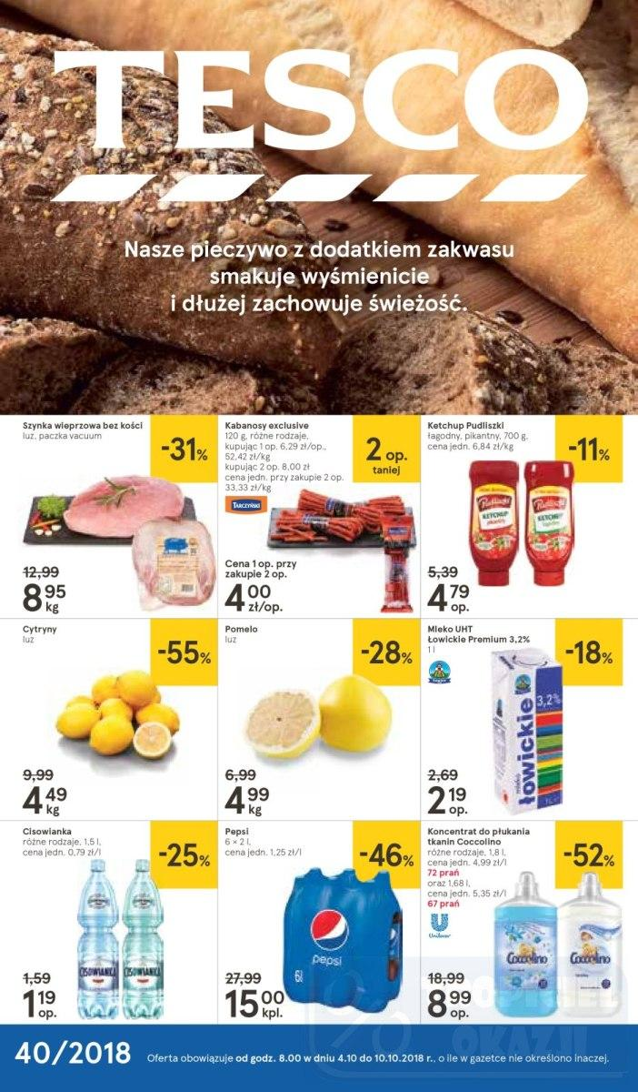 Gazetka promocyjna Tesco do 10/10/2018 str.1