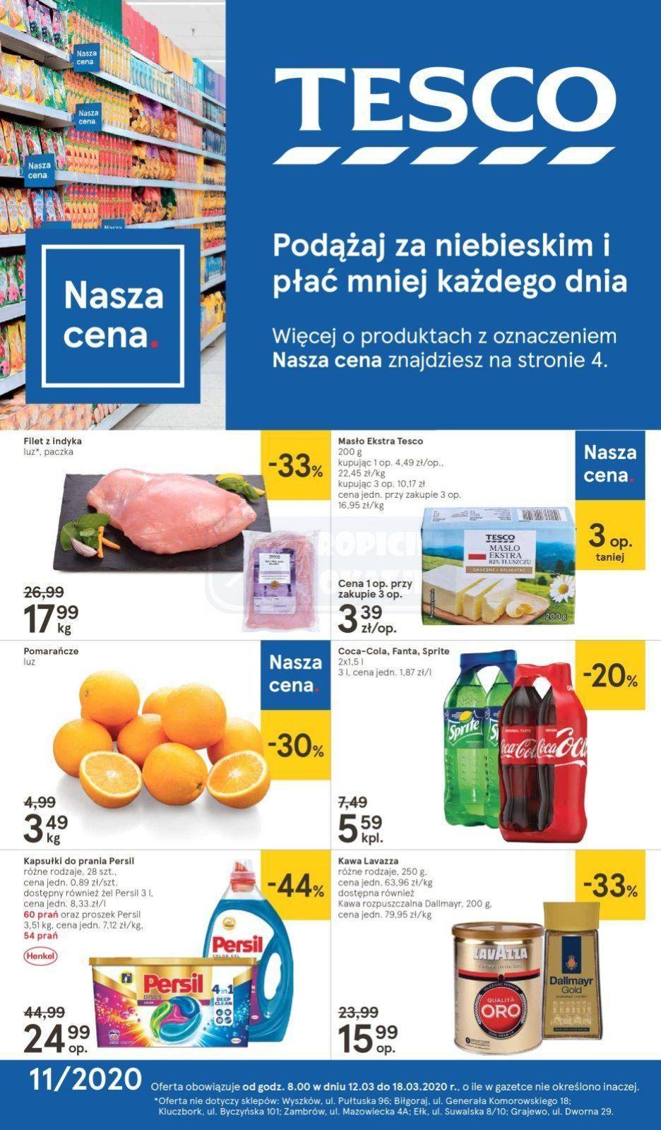 Gazetka promocyjna Tesco do 18/03/2020 str.1