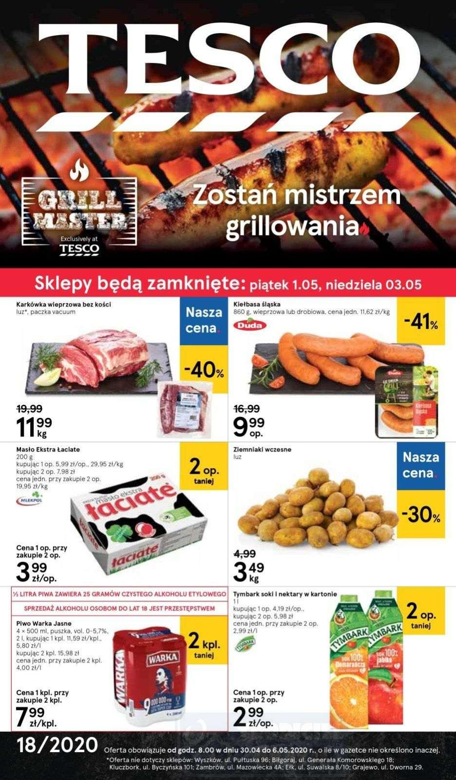 Gazetka promocyjna Tesco do 06/05/2020 str.0