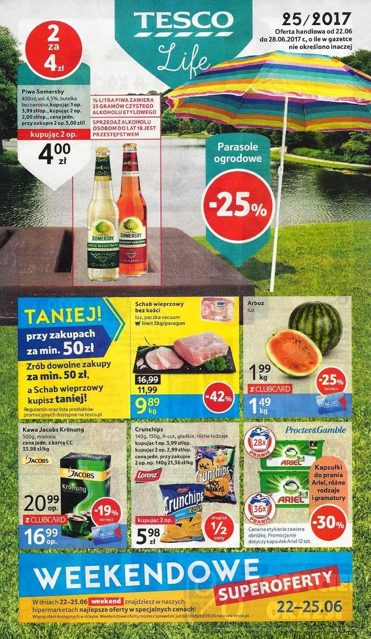 Gazetka promocyjna Tesco do 28/06/2017 str.0